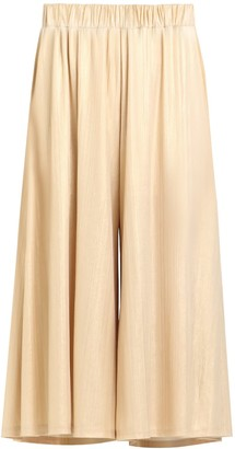 Paisie Metallic Culottes With Elasticated Waist