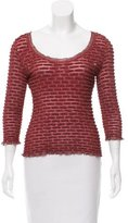 Christian Lacroix Metallic Knit Top