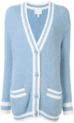 Alice McCall Get The Blues ribbed knit cardigan