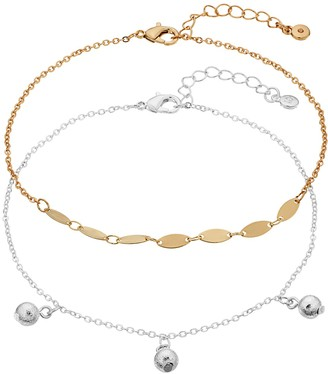 Lauren Conrad Two-Tone Ball Drop Anklet