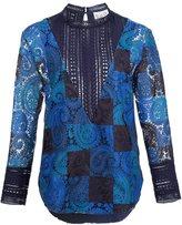 Sea lace cut-off blouse