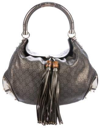 0125eac1c1cc73 Gucci Leather Tassel Hobo Bag - ShopStyle