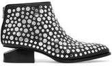 Alexander Wang Kori Cutout Studded Leather Ankle Boots - Black