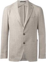 Tagliatore single breasted blazer - men - Linen/Flax/Cupro/Virgin Wool - 54