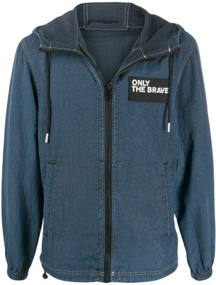 Diesel 'only The Brave' Hooded Denim Jacket