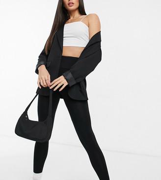 Asos Tall ASOS DESIGN Tall leggings with deep waistband in black