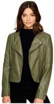 BB Dakota Louis Drapey Soft PU Cropped Jacket Women's Coat