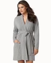 Soma Intimates Short Cashmere Robe Heather Grey