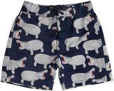 Mini Rodini Hippo Printed Lycra Swim Shorts