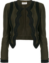 Saint Laurent braided scallop jacket - women - Cotton/Acrylic/Viscose - 38