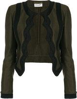 Saint Laurent braided scallop jacket - women - Cotton/Acrylic/Viscose - 40