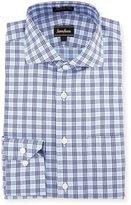 Neiman Marcus Classic-Fit Non-Iron Plaid Dress Shirt, Blue