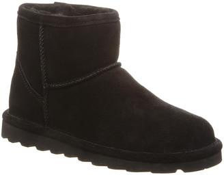 BearPaw Women's Cold Weather Boots BLACK - Black Alyssa Suede Ankle Boot - Women