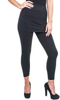 Magid Black Fleece-Lined Skirted Leggings - Plus Too