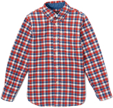 E-Land Kids Dusty Red & Blue Plaid Button-Up - Toddler & Boys