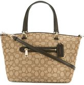 Coach monogram print tote - women - Cotton/Leather - One Size