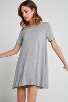 BCBGeneration Heathered Jersey A-Line Dress - Gray