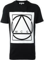 McQ by Alexander McQueen glyph icon print T-shirt - men - Cotton - S