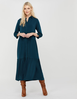 Under Armour Agnes Tiered Shirt Midi Dress Teal