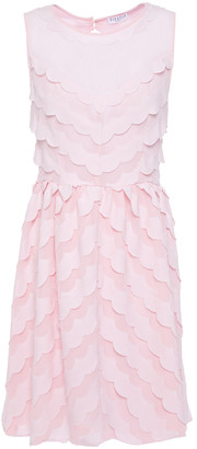 Claudie Pierlot Cutout Scalloped Crepe And Chiffon Mini Dress