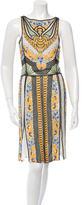 Naeem Khan Silk Beaded Dress