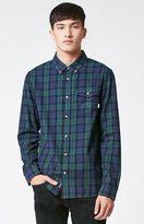 Vans Lachlan Plaid Flannel Long Sleeve Button Up Shirt