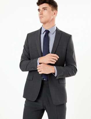 Marks and Spencer The Ultimate Big & Tall Charcoal Tailored Fit Jacket