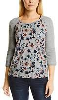 Cecil Women's Melange Raglan w. Flower Print T-Shirt