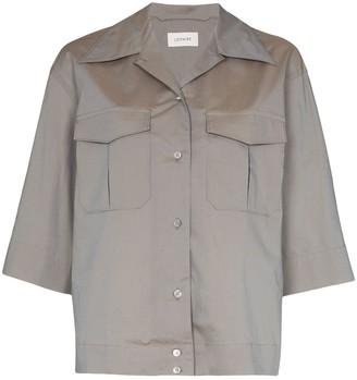 Lemaire 3/4 sleeve camp collar shirt