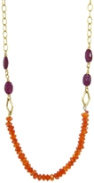 Cathy Waterman Cornelian and Ruby Necklace