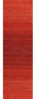 """Calvin Klein Linear Glow Hand-Knotted Wool Watercolor Sumac Area Rug Rug Size: Rectangle 7'9"""" x 10'10"""""""