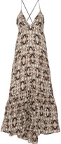L'Agence Grace printed silk maxi dress