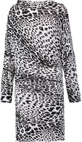 Norma Kamali Leopard-print stretch-jersey dress
