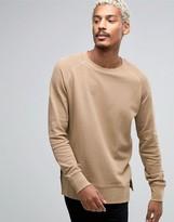Asos Oversized Sweatshirt In Waffle Fabric