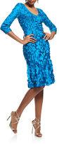 Theia Petal Zip Dress