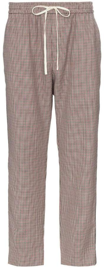 Gucci Houndstooth wool mohair track pants