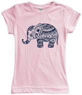 Urban Smalls Light Pink Boho Elephant Fitted Tee - Toddler & Girls