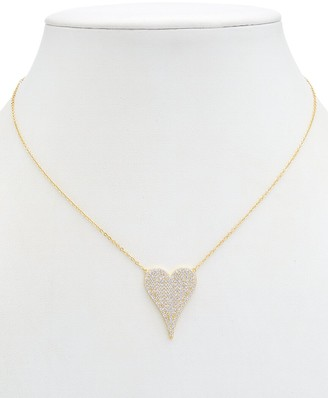 Alanna Bess Limited Collection 14K Over Silver Cz Heart Necklace