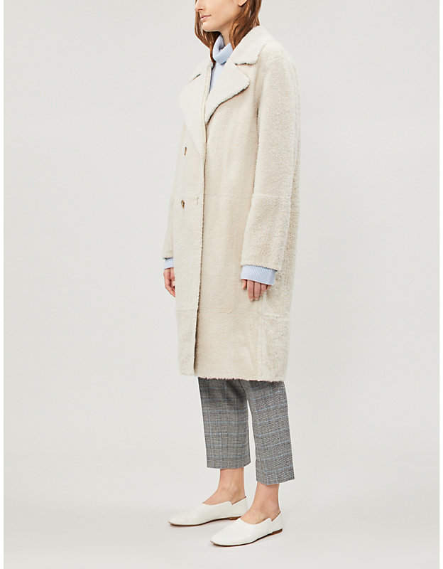 Yves Salomon Double-breasted shearling coat
