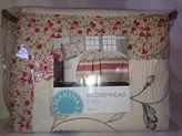 Martha Stewart Strawberry Meadow Cream & Coral King Bedspread