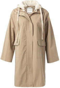 Ya-Ya Sand Parka Coat with Detachable Hoodie - sand | 40 - Sand
