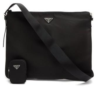 Prada Triangle Logo-plaque Nylon Cross-body Bag - Black
