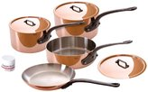 Mauviel M'Heritage Cookware Set with Cast Iron Handles - Copper - 7 pc