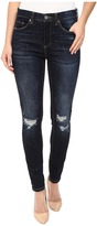 Blank NYC Mid-Rise Distressed Blue Skinny in Fully Loaded