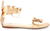 Francesco Russo Leaf-strap leather sandals