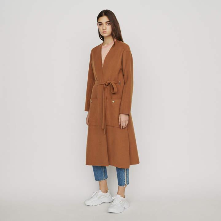 Maje Long double-face wool coat