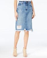 Lucky Brand Ripped Denim Skirt