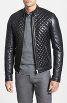 LAMARQUE Quilted Lambskin Leather Moto Jacket