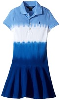Polo Ralph Lauren Stretch Mesh Dip-Dye Dress (Little Kids)