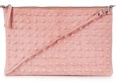 Topshop Studded Leather Clutch